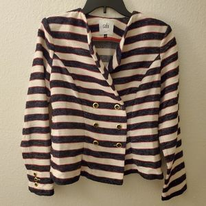 CABI Collection Red Whi Blue Blazer Sz 6